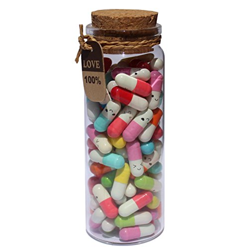 "INFMETRY 90 Pcs Capsule Letters, ""Message in a Bottle"" Glass..."