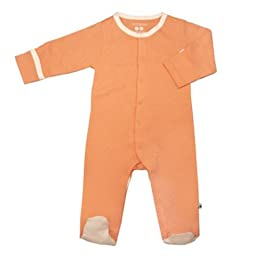 Babysoy Footie   (Baby) - Cantaloupe-3-6 Months