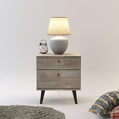 Midtown Concept Barcelona Wood Mid-century 2-drawer Nightstand price