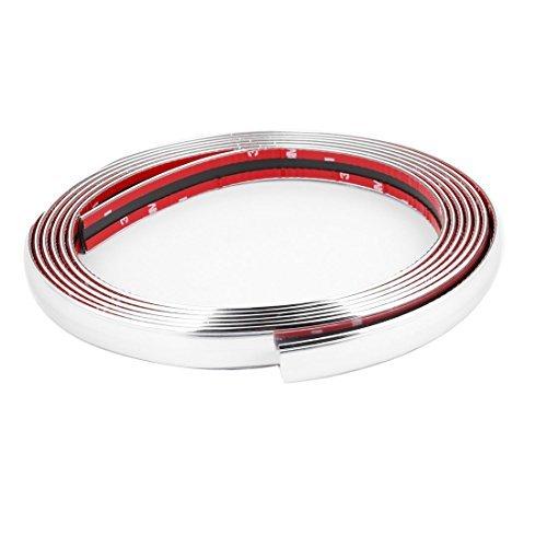 Silver Tone Soft Flexible Plastic Moulding Trim Strip 4 Meter for Car
