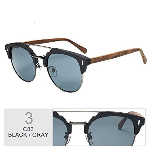 Hombre De Metal Clásico Popular Sol GRAY Madera Gafas Gafas TIANLIANG04 Polarizadas Azul De Gafas En Y Gafas Madera qg58RnxwX
