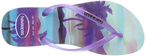 Havaianas Slim Paisage, Chanclas, Mujer Azul (Blau 0642)