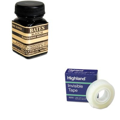 KITAVT9800659MMM6200341296 - Value Kit - Advantus Refill Ink for Numbering Machines (AVT9800659) and Highland Invisible Permanent Mending Tape (MMM6200341296) ()