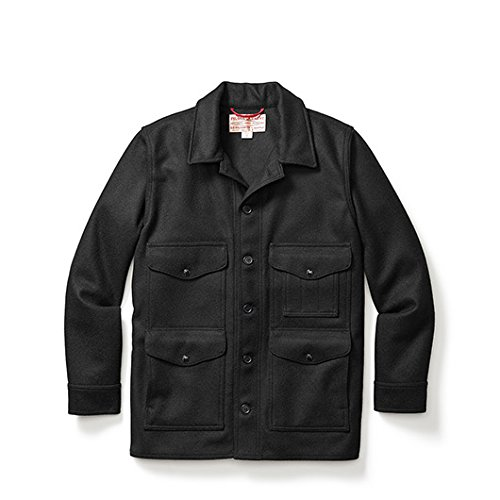 Filson Wool Mackinaw Cruiser Guide Fit - Black - Seattle Fit - X-Large