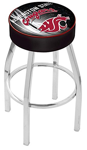 Holland Bar Stool Officially Licensed L8C1 Washington State University Swivel Bar Stool, 30
