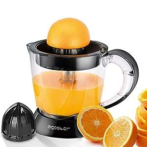 Aigostar Thomas – Presse Agrumes Electrique 40W, Capacité 1L, Sans BPA, Jus Orange Citron Pamplemousse, 2 cônes…