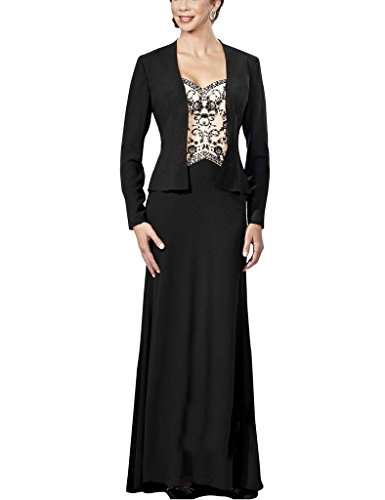 H.S.D Sequins Embroidery Straps Mother Of The Bride Dresses With Jacket Party Gowns