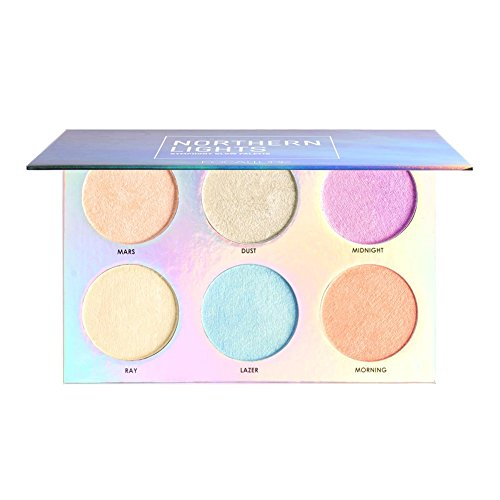 6 colors High light powder palette coloured highlighters Cha