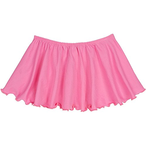 Toddler and Girls Flutter Ballet Dance Skirt Bright Pink XS (2-3T) by The Leotard Boutique