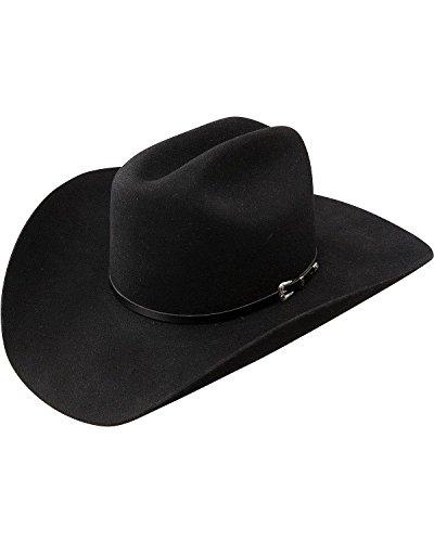 Resistol Men's George Strait Sonora 4X Fur Felt Cowboy Hat Black 7 1/2 (Fur Felt Hat)