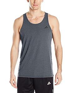 adidas Men's Training Ultimate Tank, Dark Grey Heather, X-Small