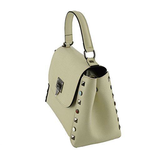 Borsa A Mano In Vera Pelle Colore Beige - Pelletteria Toscana Made In Italy - Borsa Donna