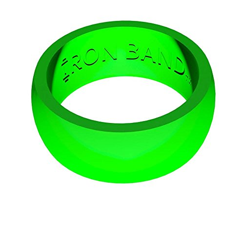 Iron Band Quality Women's Rubber Silicone Wedding Bands for an Active Lifestyle… (Large (Size 10-11), Lime Green) by Iron Band Fitness