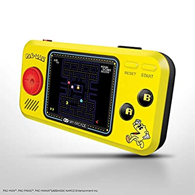 My Arcade Pocket Player Handheld Game Console: 3 Built In Games, Pac-Man, Pac-Panic, Pac-Mania, Collectible, Full Color Display, Speaker, Volume Controls, Headphone Jack, Battery or Micro USB Powered: Toys & Games