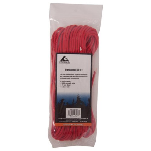 Liberty Mountain Paracord, Red, 50-Feet by Liberty Mountain (Image #1)