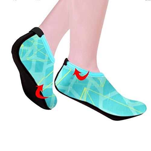 - Sinwo Men Women Unisex Comfortable Outdoor Water Sport Shoes Diving Swim Socks Yoga Socks Soft Beach Shoes Water Shoes (Blue, 5.5-6)