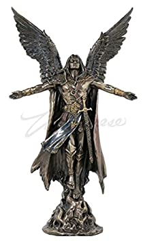 Ascending Saint Michael Archangel Statue 11 Inch by Jfsm Inc