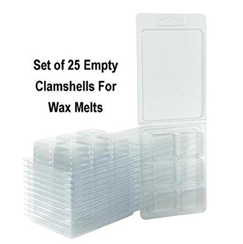 USA Premium Store Wax Melt Molds, Clamshells For Wax, Wax Melt Packaging Containers, Wax Tart ()