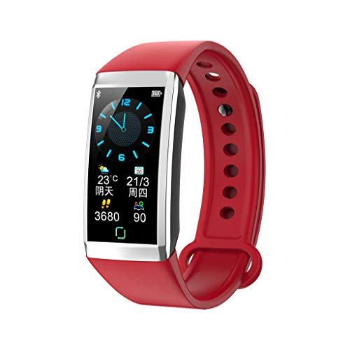 CZYCO New Generation Display 1.14 inch Heart Rate Blood Pressure Sleep Monitoring Sports Watche Monitor Your Health(Red) (Advocate Wrist Blood Pressure Monitor Automatic Kd 726)