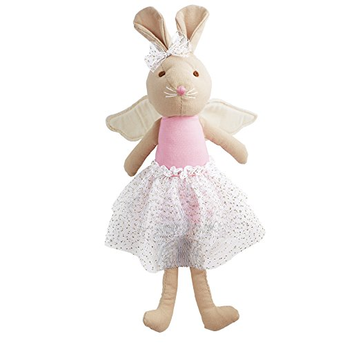 Mud Pie Linen Princess Fairy Plush Doll, Bunny (Bunny Ballerina Plush)