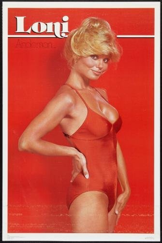Loni Anderson Mini Poster #01 Red Swimsuit 11x17 Master Print - Anderson Vinyl Tube