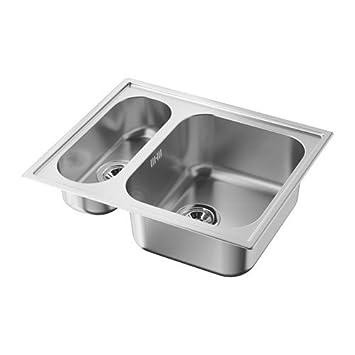 Ikea Boholmen Einbauspule 1 5 Becken Aus Edelstahl Inkl Atlant