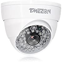 TMEZON 1/2.9 HD-CVI 2.0MP 1080P Dome Security Camera Indoor Outdoor 48IR Leds Night Vision Wide Angle View Video Surveillance