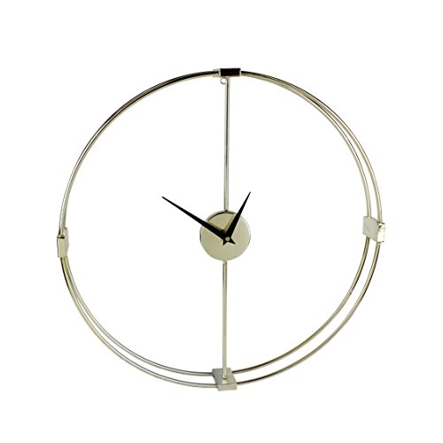 Sagebrook Home 12786 Metal Modern Wall Clock Window Box Acrylic, 20 x 2.5 x 20.5 Inches, Gold by Sagebrook Home (Image #1)