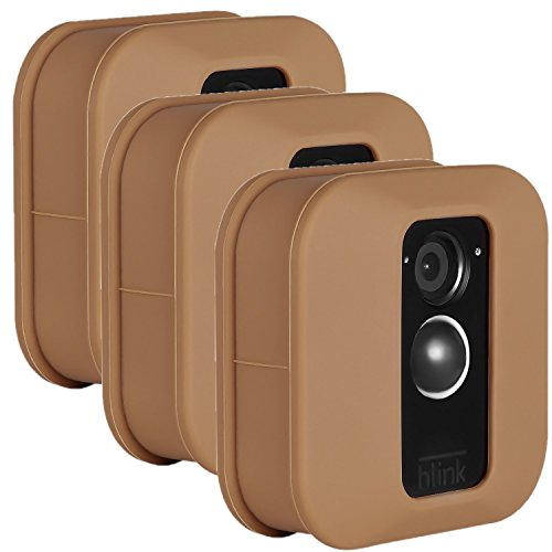 Blink XT Outdoor Camera Silicone Skin - Colorful Silicone Skin to Help Camouflage and Accessorize Your Home Security Camera - by Wasserstein (3 Pack, Brown) (Case Camera Camouflage)