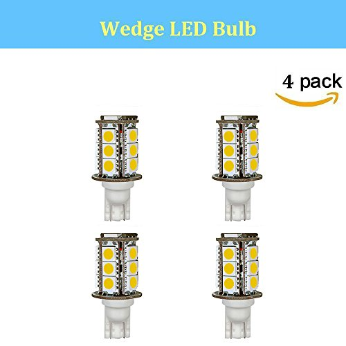 Makergroup T3 T5 T10 921 194 Miniature Wedge LED Light Bulb High Brightness 12VAC/DC 3Watt Warm White 2700K-3000K for Outdoor Landscape Lighting Step Deck Driveway Path Gazebo Paver Lights 4-Pack by Makergroup