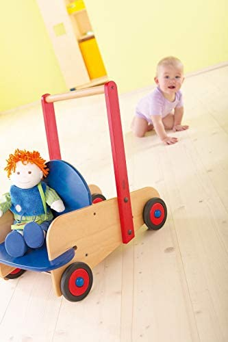 412duUOc3qL. AC - HABA Walker Wagon - First Push Toy With Seat & Storage For 10 Months And Up
