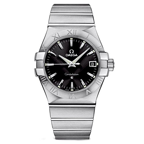 Omega Quartz Bracelet - Omega Men's 'Constellation' Swiss Quartz Stainless Steel Dress Watch, Color:Silver-Toned (Model: 12310356001001)