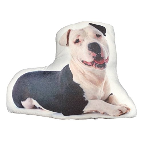 Ella Sussman Pitbull Pittie Cute Dog Breed Stuffed Throw Pillow Decor Decorative Gift ()