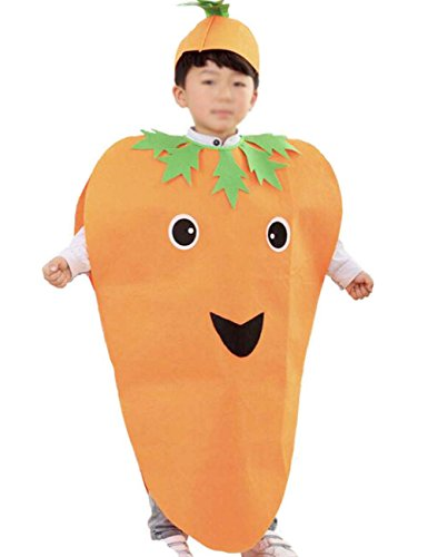 ANDES Child Party Clothing Carrot Costume Suit for Christmas Holidy (Carrot) -
