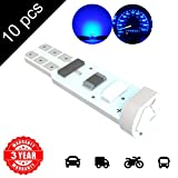 LED Monster 10 x T5 5 SMD Blue LED Bulbs Instrument Panel Gauge Cluster Replacement Lamp for Lexus