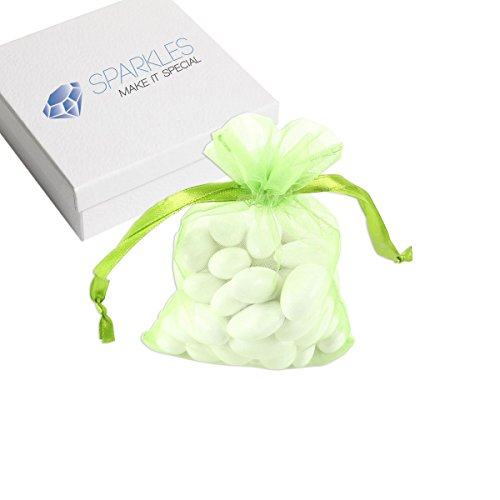 (Sparkles Make It Special 50-pcs 4 x 6 Inch Organza Favor Bags Wedding Party Gift Pouches Apple Green)