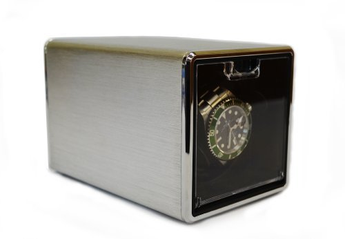 Pangaea S100 Single Automatic Metal Watch Winder - Silver (Battery Operated or AC Powered)