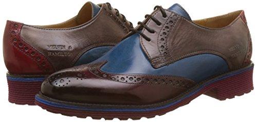 amp;hamilton Multicolore burgundy Melvin Para Rich Mujer Pop Cordones Stone Red 3 Zapatos Amelie Blue Derby De dwRwzA
