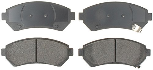 (ACDelco 14D699CH Advantage Ceramic Front Disc Brake Pad Set with Wear Sensor)