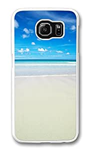 VUTTOO Rugged Samsung Galaxy S6 Edge Case, Paradise Island Hard Plastic Case for Samsung Galaxy S6 Edge PC Transparent