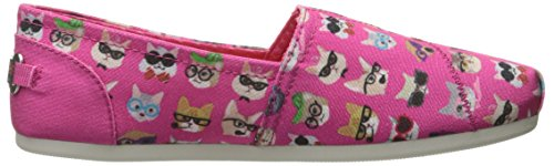 Skechers Bobs Da Womens Plush-wag Party Flat Hot Pink Kitty