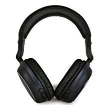 Alpatronix HX100 Over-Ear Stereo Bluetooth Headphones & Hands Free Wireless Headset with Built-In Mic for iOS/Android Smartphones & Other Multimedia Devices (Playback & Volume Controls – Retail Packaging) – (Black)