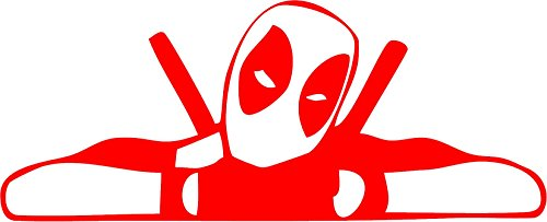 All About Families DEADPOOL FACE MASK MARVEL AVENGERS SUPER HERO COMICS ~ STYLE 2 ~ Die Cut Decal Sticker for tuck car windows laptop phone case bumper yeti cup mugs helmet car door wall decoration -