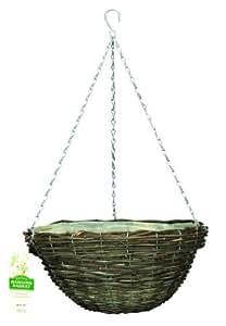 Gardman 12-inch Rattan Roll Top Hanging Basket
