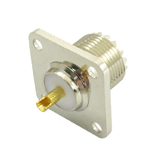 uxcell UHF SO-239 Female Jack Square Shape Solder Cup Coax Connector for Ham Radio