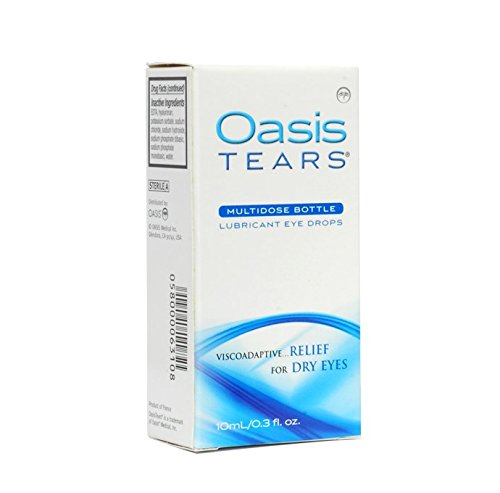 Oasis TEARS Lubrifiant Multidose gouttes pour les yeux de secours pour les yeux secs, 0,3 onces liquides (Pack de 2)