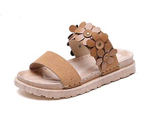 scarpe Donna di Sandali spessore 35 spiaggia colore Da Wild e Moda pantofole Alla da 39 4cm AJUNR qxv10Ew1n