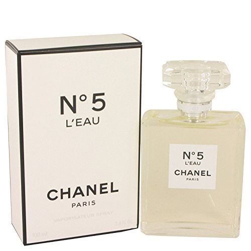 Chanel No 5 Eau De Parfum Spray (Chanēl No. 5 L'ēau Perfùme For Women 3.4 oz Eau De Toilette Spray + FREE All Over Shampoo)