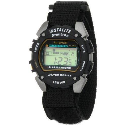 Armitron Sport Men's 40-6623BLK Chronograph Instalite Black Digital Watch by Armitron Sport