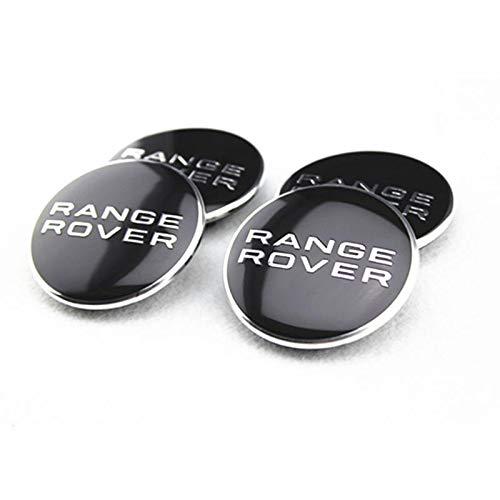 Black /& Chrome Centre Hub Wheel Alloy Caps Cover Badge Emblem Decal 63mm Outer Diameter Set of 4pcs For Sport HSE Velar SVR Evoque